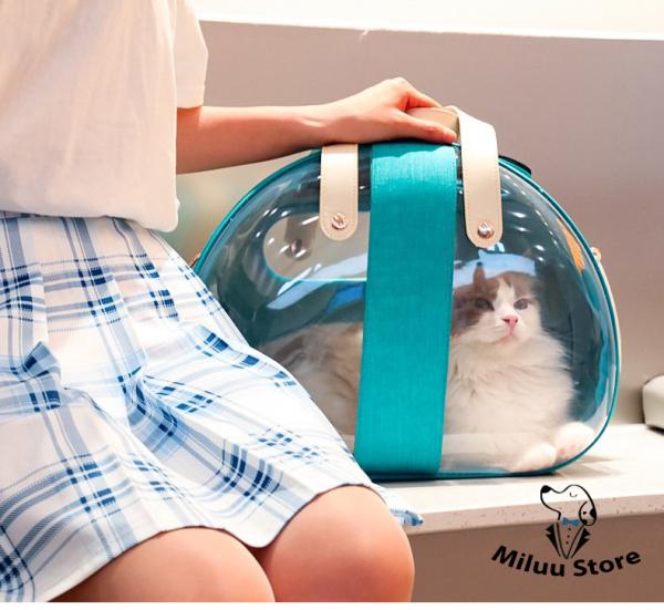 Túi chó mèo thời trang, chuyên vận chuyển thú cưng, gọn nhẹ, dễ dàng tháo rời, nhiều màu sắc bắt mắt