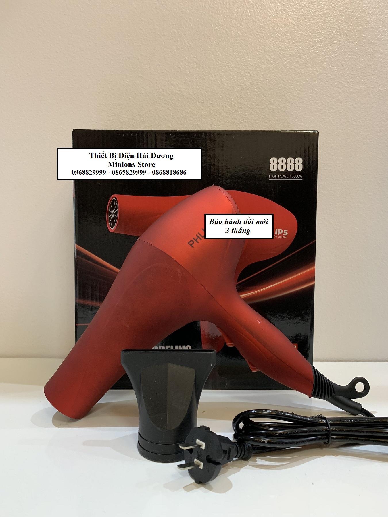 Máy sấy tóc cao cấp PL 8888 2 chiều 3000W (Đỏ)