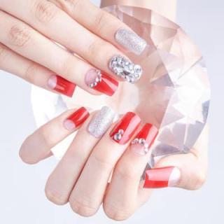 Hộp 24 Móng tay giả , nail giả , móng giả A20( Keo sẵn sau các ngón tay ) thumbnail