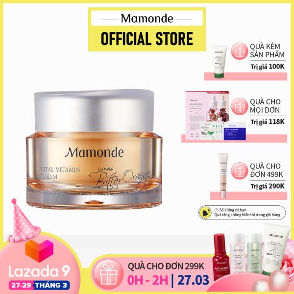 Kem dưỡng vitamin cho da sáng mịn và ẩm mượt Mamonde Vital Vitamin Cream 50ml nhập khẩu