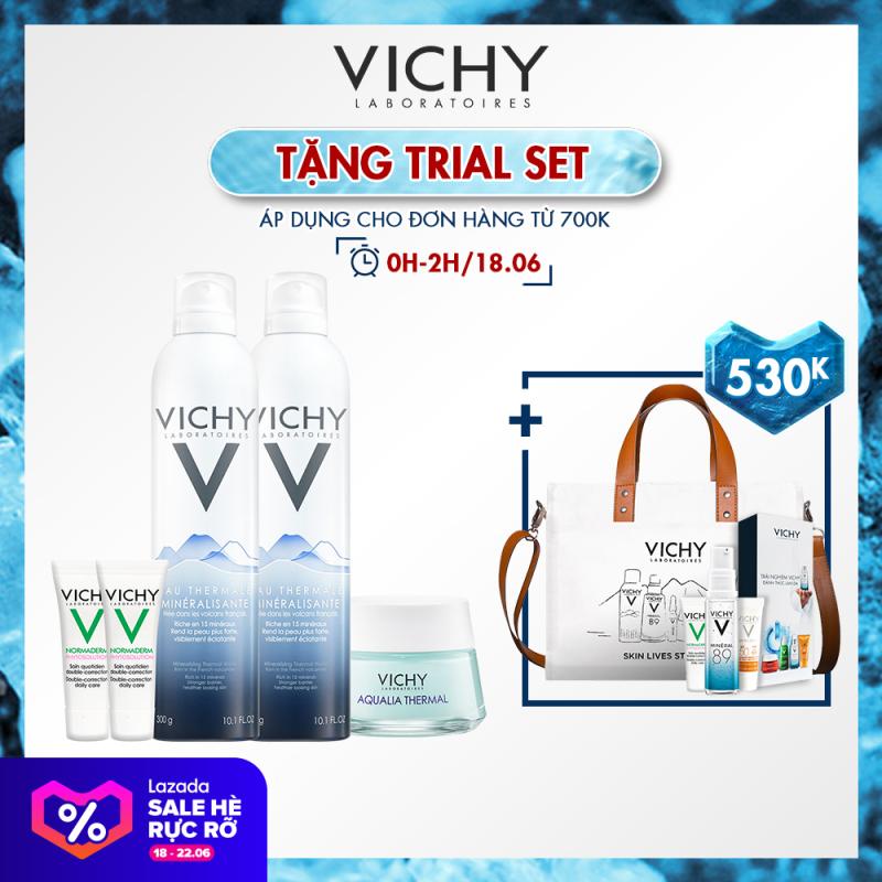 Bộ đôi xịt khoáng dưỡng da Vichy Mineralizing Thermal Water 300ml giá rẻ