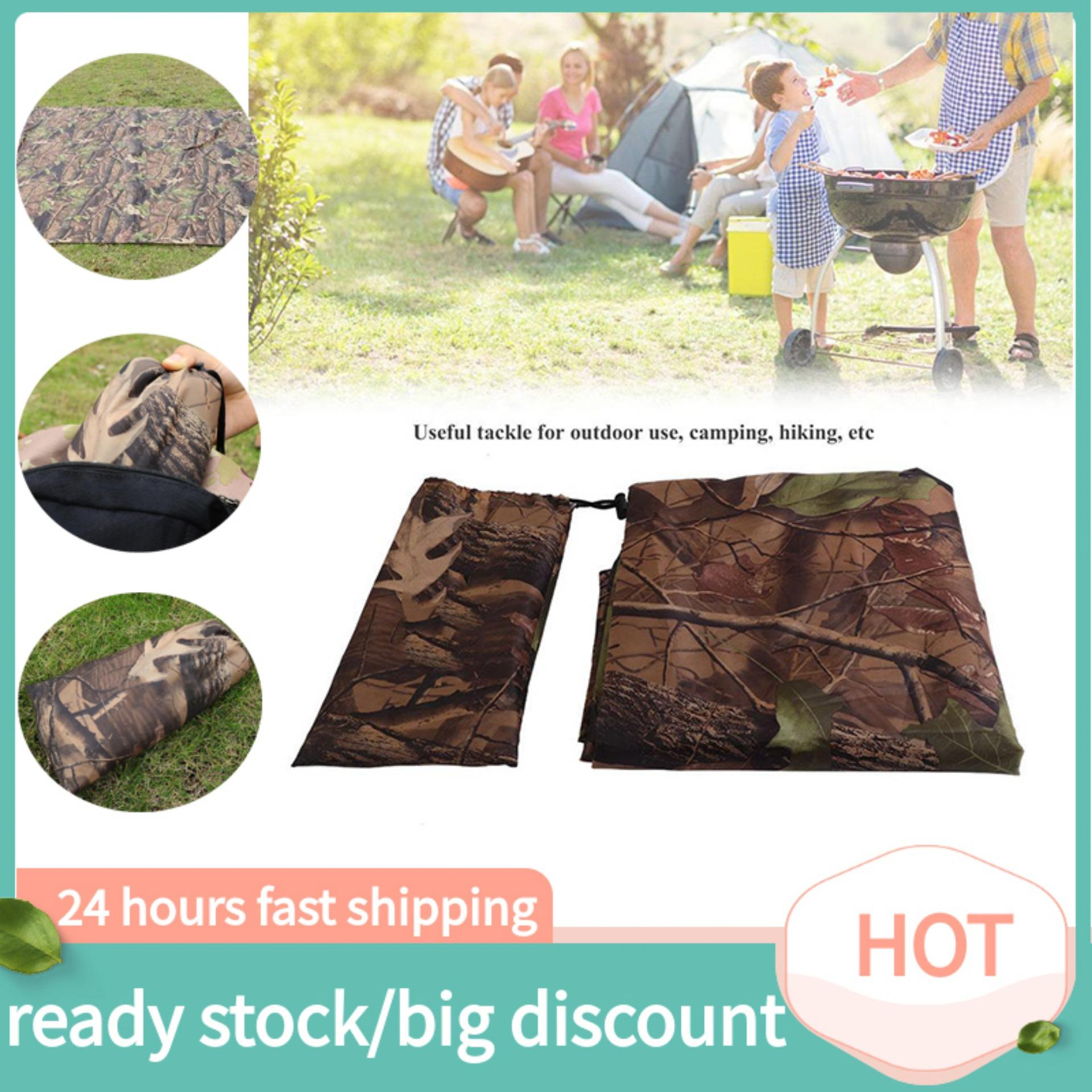 joliannh 【Phổ biến nhất + Top】 Waterproof Army Camo Tent Tarp Sheet Canopy Awning Rain Cover Camping Shelter Hiking