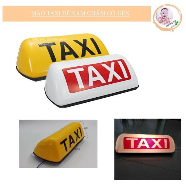 mào taxi - có đèn - đế nam châm kích cỡ 28cm (màu vàng)