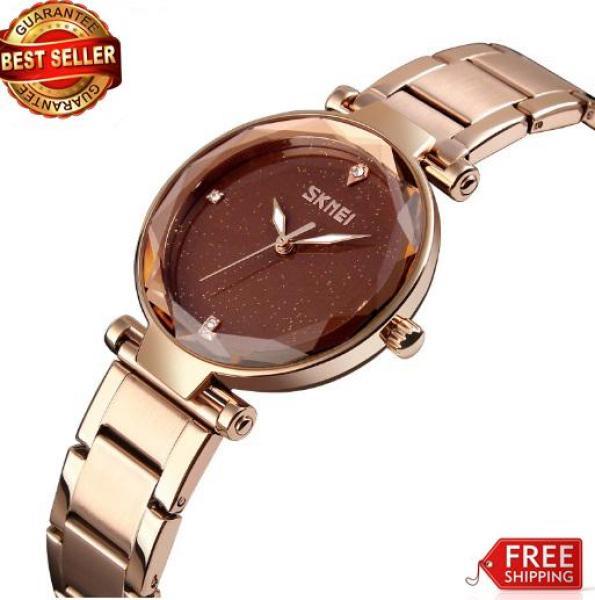 Nơi bán Đồng hồ Skmei nữ dây thép không gỉ siêu đẹp 9180 (bh 12 tháng)