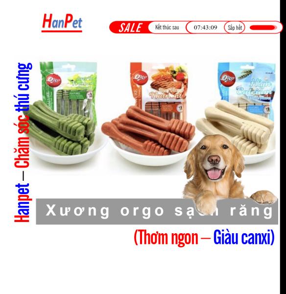 Xương bàn chải orgo (túi 6 cái) Xương cho chó gặm Trắng răng thơm miệng ngừa sâu răng