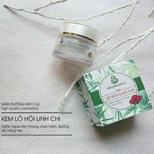 Combo Kem dưỡng da Lô Hội Linh Chi và Sữa rửa mặt