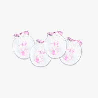 Set 2 đôi Bao tay bèo Thỏ Chó hồng - Miomio - Dành cho bé từ 0-24 tháng