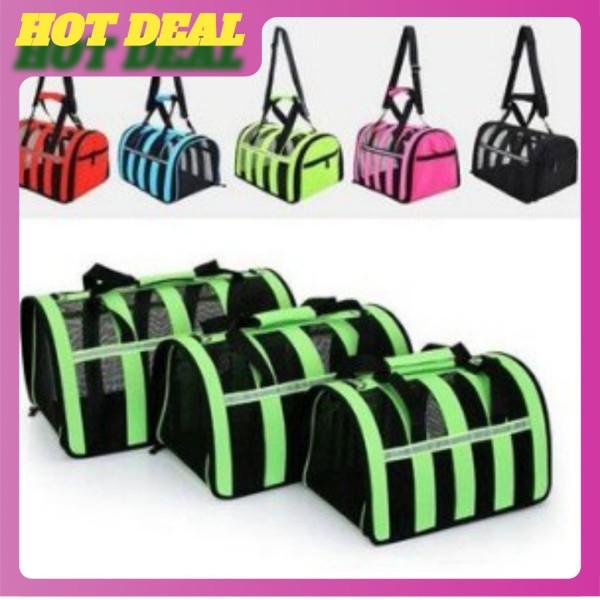 Túi vận chuyển chó mèo cao cấp , khung lưới thoáng , nhiều màu sắc !