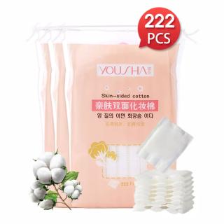 Gói 222 miếng bông tây trang Yousha 100% cotton tự nhiên an toàn cho da túi bông tẩy trang du lịch bông trang điểm, bông cotton, miếng cotton pad , bông make up thumbnail