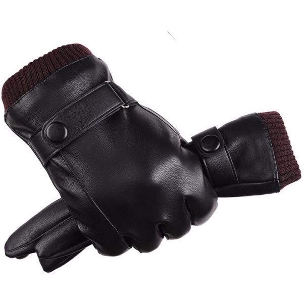 Nơi bán Găng tay da nam mùa đông, găng tay nam đi phượt cảm ứng cực nhạy, lót lông, cản gió, giữ nhiệt tốt GCL19