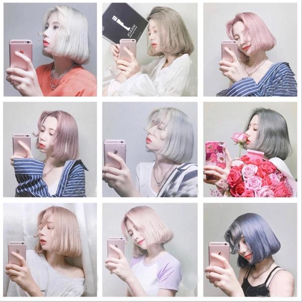 Sáp vuốt tóc tạo màu 7 màu hót nhất năm: xám khói, bạch kim,xanh dương, xanh lá, màu đỏ, màu vàng, màu tím dễ sử dụng nhuộm tạm thời trong 1 lần cao cấp