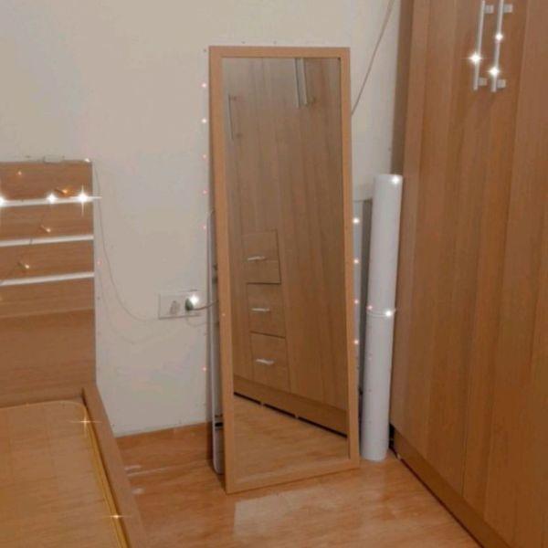 Gương soi toàn thân treo tường hoặc dựa tường gỗ 071g
