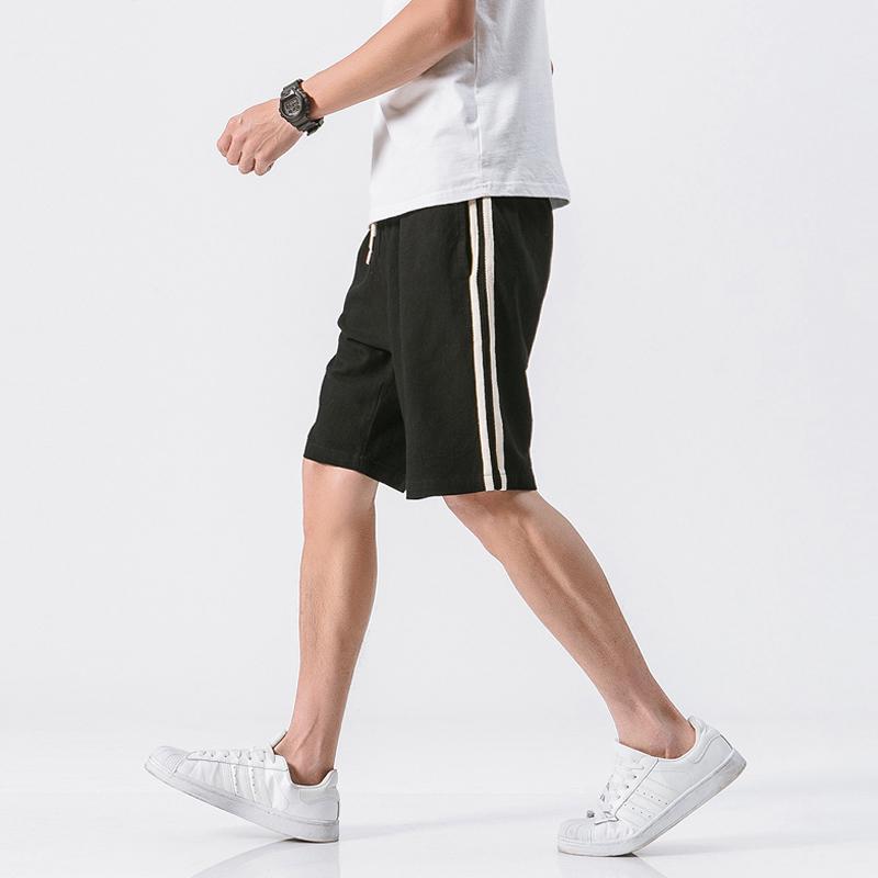 Quần Short Thun Nam Thể Thao Phối Viền Hai Sọc Thời Trang August SHORT NAM 100003