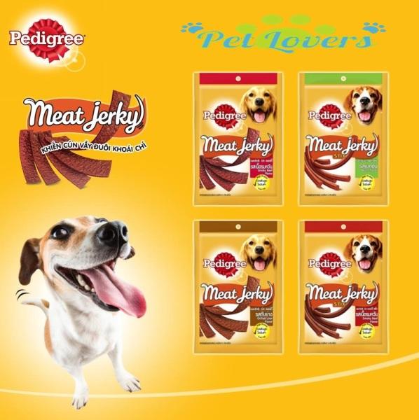 Pedigree - Bánh thưởng Meat Jerky dạng miếng vá que cho chó có 4 vị 60g