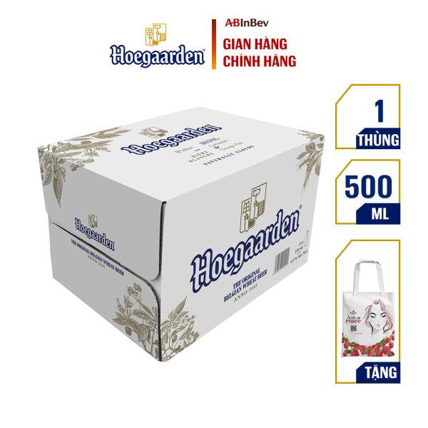 Thùng 12 lon bia Hoegaarden White (500ml/lon) -  Dòng Bia Lúa Mì Xuất Xứ Từ Bỉ