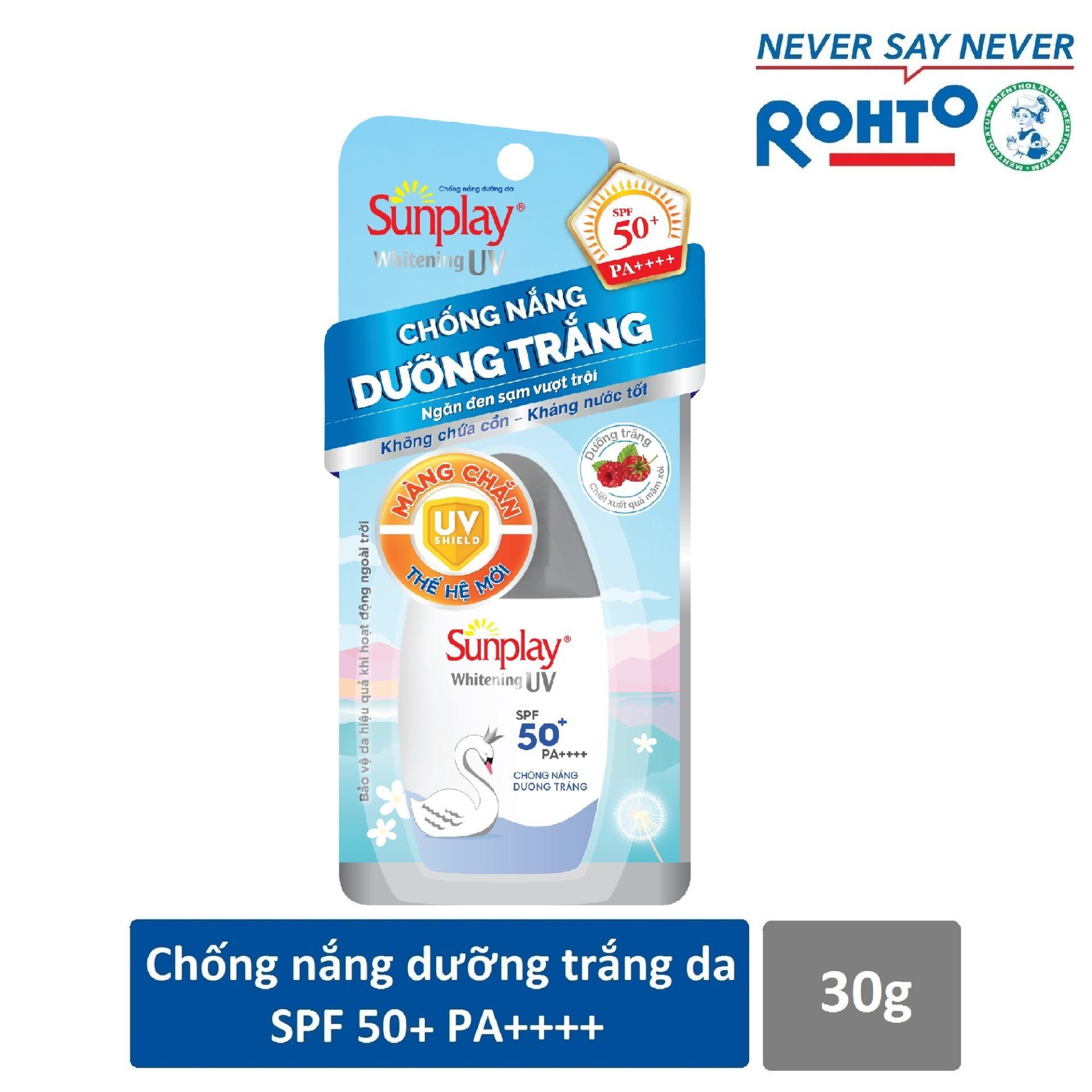 Kem chống nắng dạng Sữa dưỡng da trắng đẹp Sunplay Whitening UV SPF 50+, PA++++ 30g
