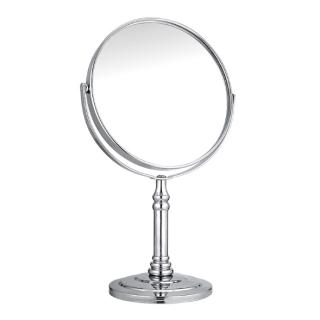 Gương để bàn size lớn - Gương trang điểm 2 mặt xoay 360 độ zoom x2 khung hợp kim không gỉ MKZ124 thumbnail