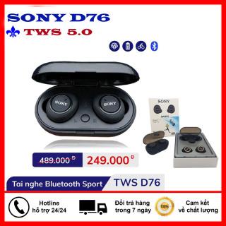 Tai Nghe Không Dây Kết Nối Bluetooth D76 - Âm thanh Cao Cấp - Pin Khỏe hoạt động 4 Giờ - Super Bass True Wireless thumbnail