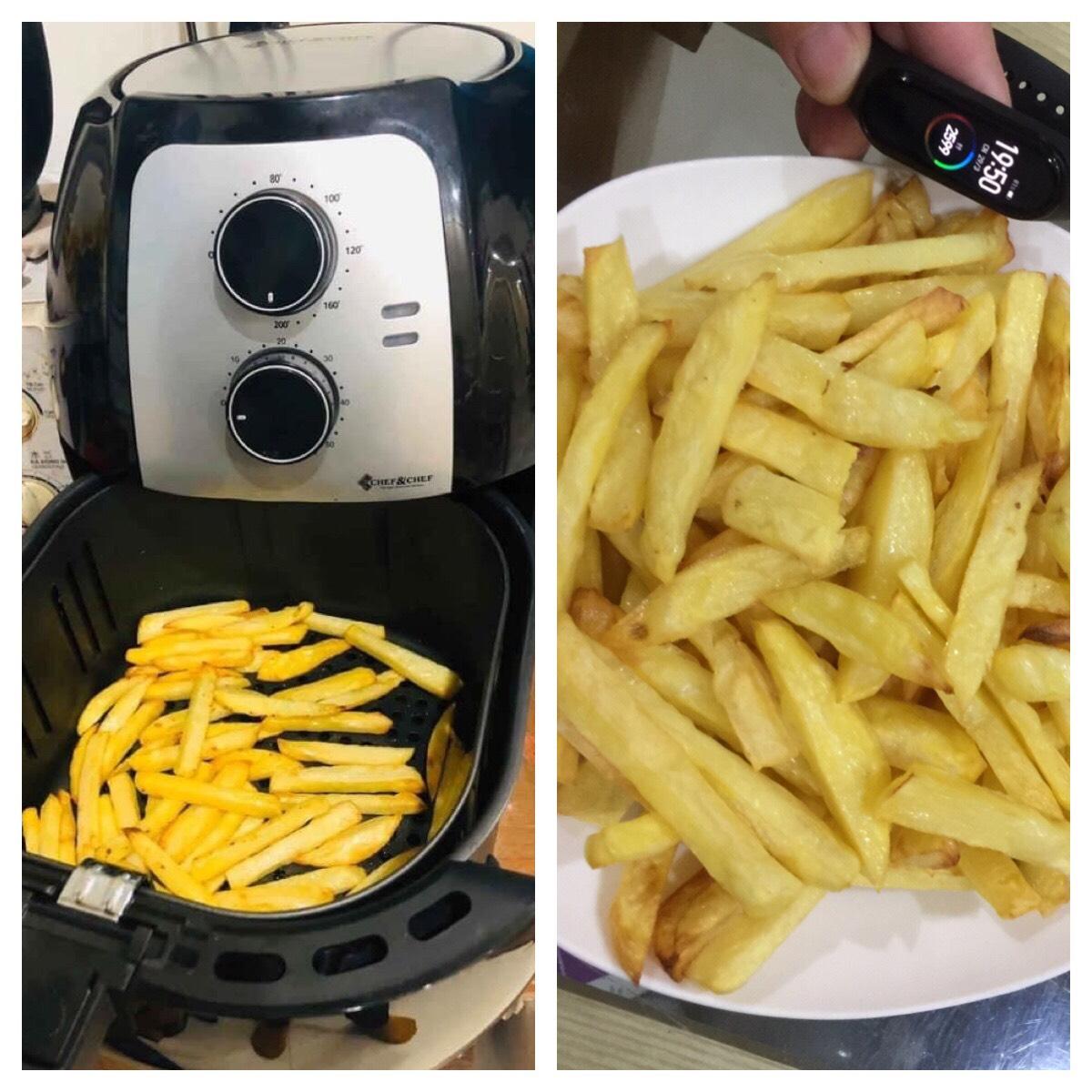 NỒI CHIÊN KHÔNG DẦU Chef&Chef YJ-702 dung tích đại 6,5L, công suất 1800W