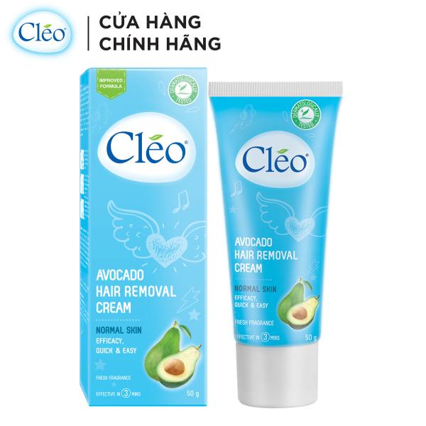Kem tẩy lông cho da thường Cleo Avocado Hair Removal Cream Normal Skin 50g, an toàn, không đau và đạt hiệu quả nhanh chóng
