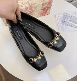 Giày búp bê nữ phối khóa ngọc chất đẹp êm chân 5