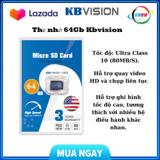 Thẻ nhớ Micro SD KBVISION 64GB Ultra class 10 , bảo hành chính hãng- Công Nghệ Việt Nam thumbnail