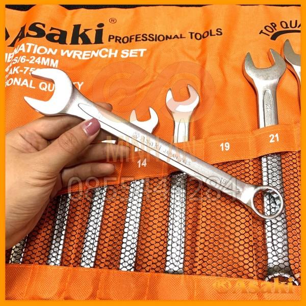 Bộ Cờ Lê Vòng Miệng 14 Cây Asaki Ak-7503 6-24Mm