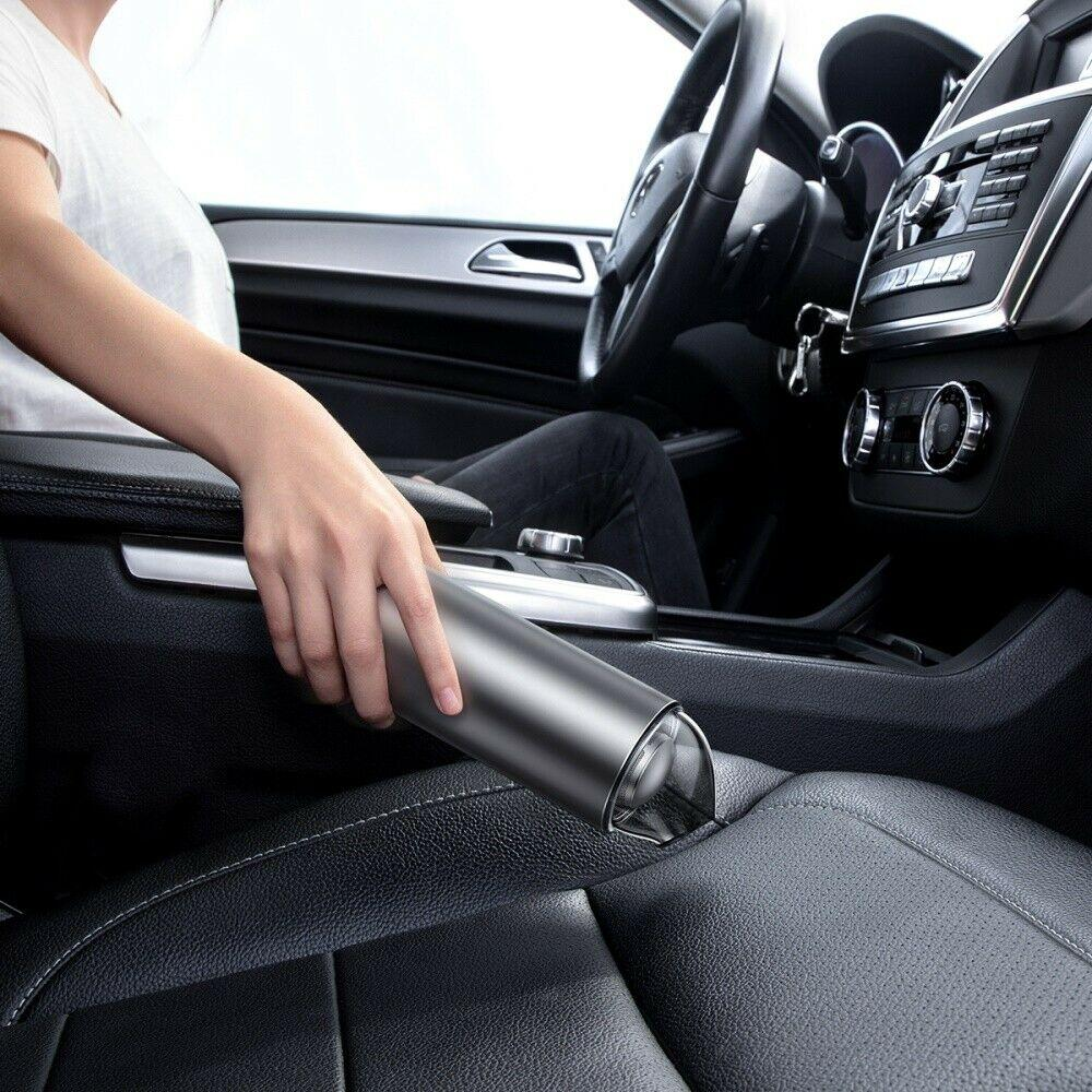 Máy hút bụi cầm tay mini không dây Baseus Vacuum Clean lực hút 4000PA dễ dàng làm sạch bụi trong xe hơi, bàn phím máy tính hay ghế sofa