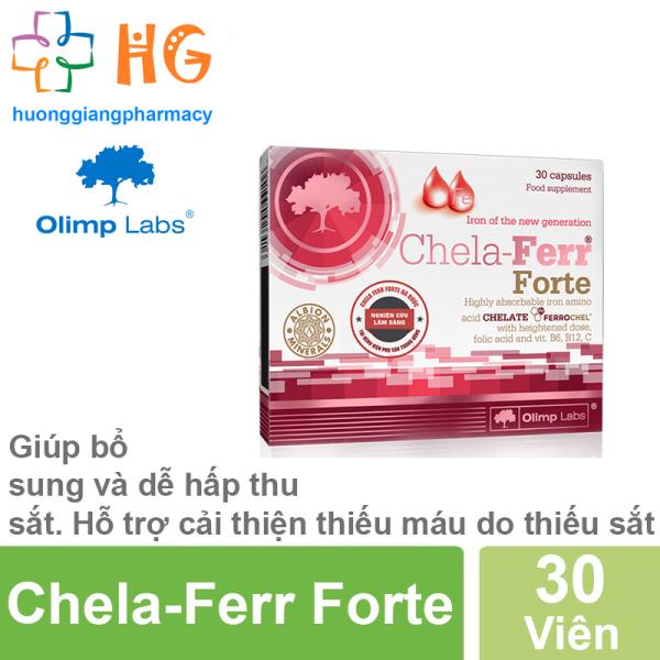 Combo 2 Chela-Ferr Forte - Hỗ trợ bổ sung và dễ hấp thụ sắt. Hỗ trợ cải thiện thiếu máu do thiếu sắt (Hộp 30 Viên)