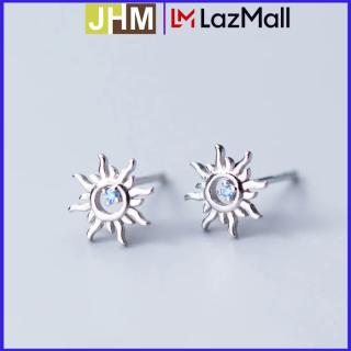 Bông tai bạc cao cấp 925 Bông tai bạc JHM Bông tai bạc mặt trời đính đá thumbnail