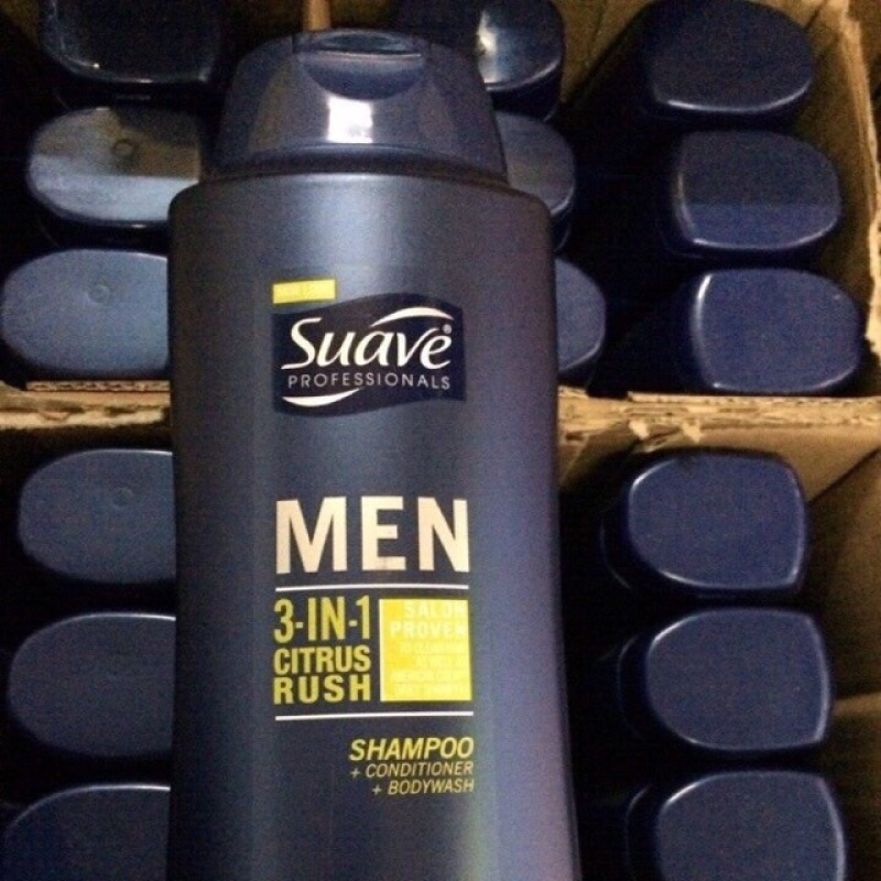 Tắm Gội Nam Suave Professionals Men 3 In 1 Chai 828Ml giá rẻ