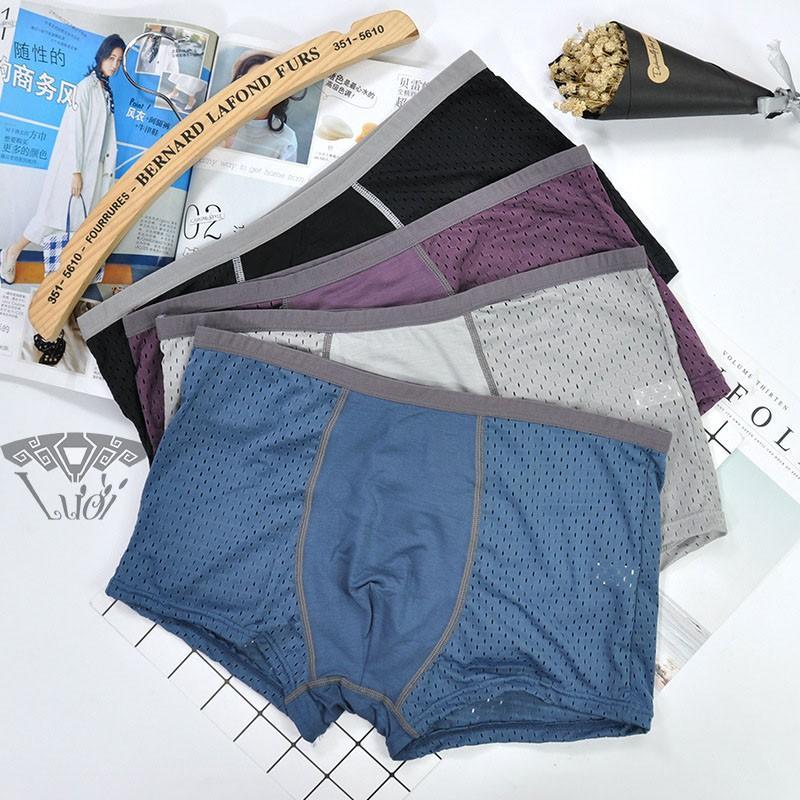 Quần sịp đùi nam Men's thông hơi quần lót nam thun lạnh cao cấp. GIAO NGẪU NHIÊN 1 TRONG 3 MÀU : ĐEN - XÁM - XANH