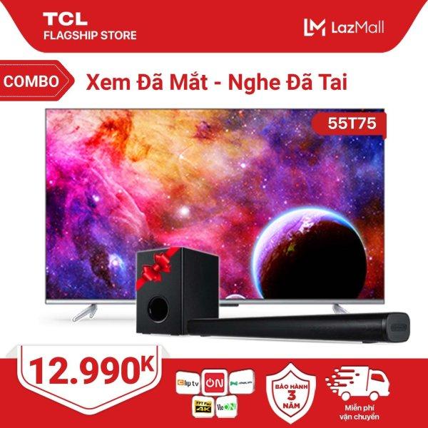 Bảng giá [ĐỘC QUYỀN LAZADA] Combo Xem Đã Mắt - Nghe Đã Tai - TV 55 Android 4K UHD 55T75 và Loa Bluetooth TS3010