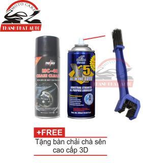 [Lấy mã giảm thêm 30%]Bộ sản phẩm vệ sinh sên MC-40 400ml + Chai xịt bôi trơn chống sét X5 400ml tặng kèm bàn chải vệ sinh sên thumbnail