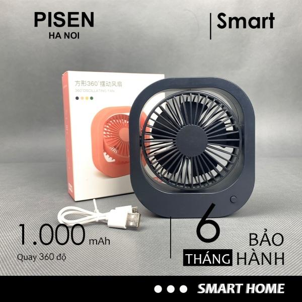 Quạt mini cầm tay 360 độ 2 chế độ mát có đế để bàn pin 1000mah dùng trên 2 tiếng