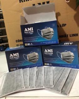 [Hàng Chuẩn 365] 3 hộp Khẩu Trang Y Tế - màu Đen 4 lớp AMI (1Hộp 50 chiếc) thumbnail
