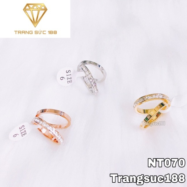 [HCM]Nhẫn titan không đen 2 chiếc NT070 sản phẩm như hình đảm bảo chất lượng hoàn toàn tốt hợp thời trang sang trọng quý phái