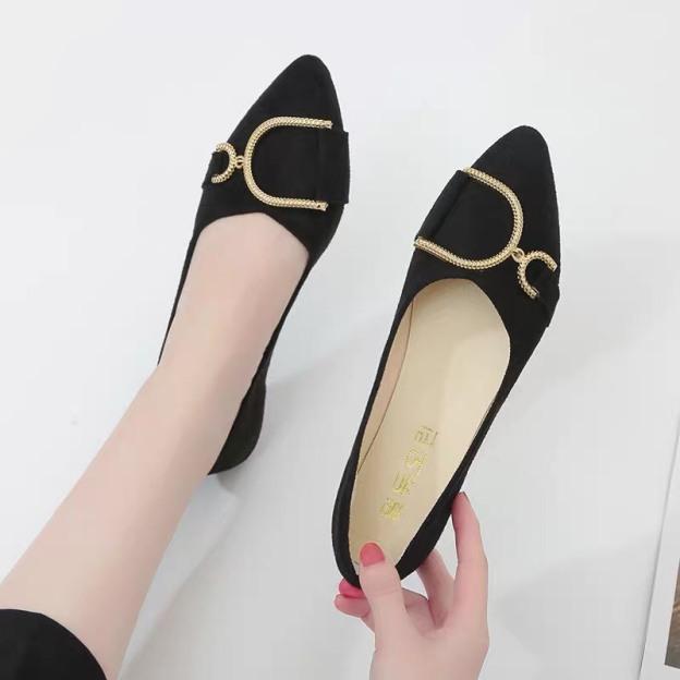 (kèm video) giày bệt nữ, bệt khóa hình chữ D  siêu hót giá rẻ