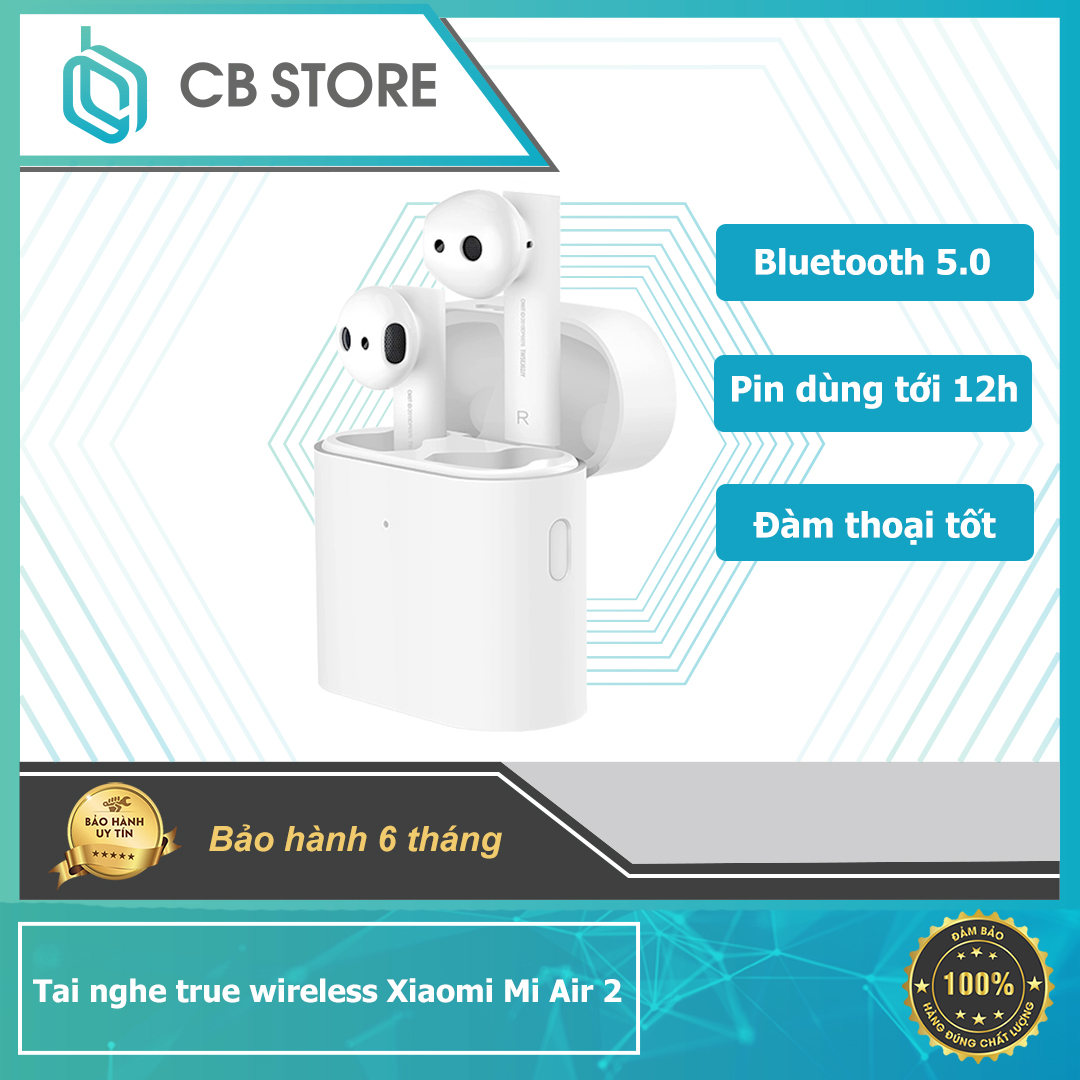 [HÀNG CHÍNH HÃNG] -Tai nghe bluetooth Xiaomi Air 2 TWS - Hàng Nhập Khẩu chính hãng Xiaomi- Kết nối không dây: Bluetooth V5.0