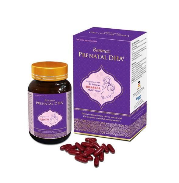 Viên uống bổ sung vitamin Benmax Prenatal DHA+ cho mẹ bầu và thai nhi 30 viên