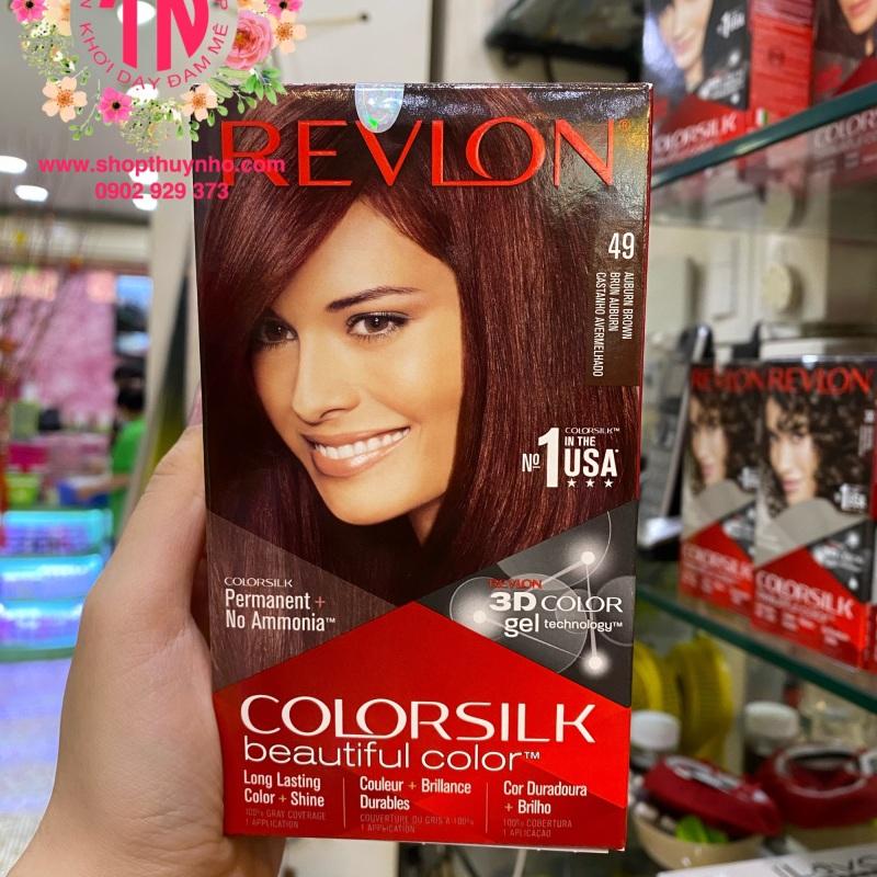 Thuốc nhuộm tóc Revlon ColorSilk số 49 - Nâu ánh đỏ cao cấp