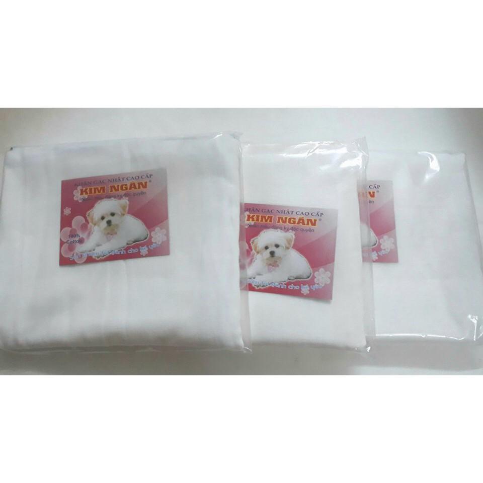 Bộ 3 khăn xô sữa tắm 4 lớp Kim Ngân...