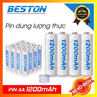 04 pin sạc AA 1200mAh BESTON - Pin sạc BESTON Pin mic không dây, camera, pin điều khiển... thumbnail