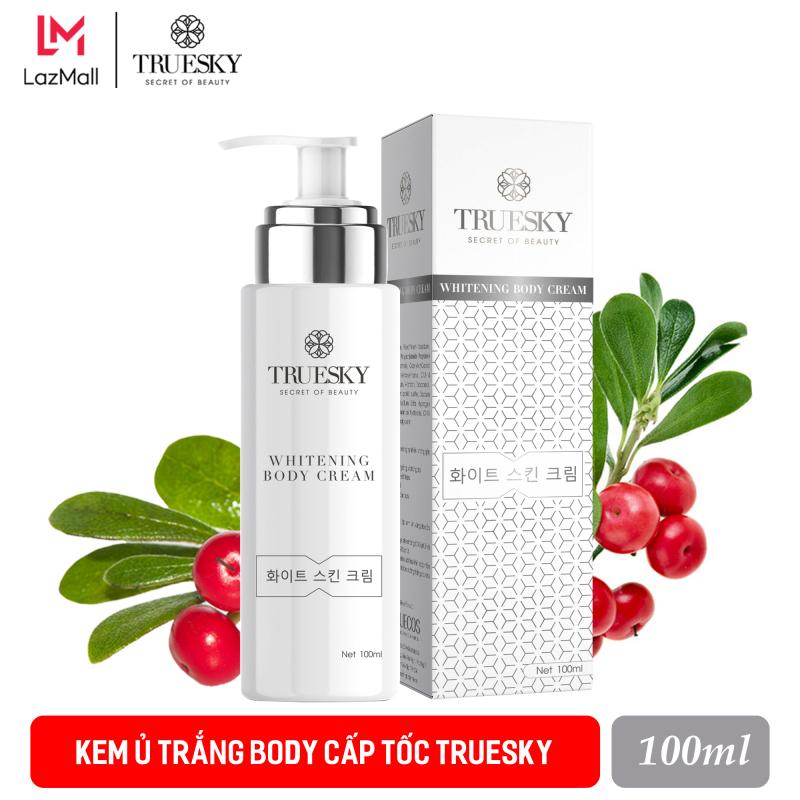 Kem ủ trắng body cấp tốc Truesky dạng vòi nhấn tiết kiệm 100ml - Whitening Body Cream giá rẻ