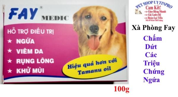 XÀ PHÒNG TẮM CHO THÚ CƯNG CHÓ MÈO Fay Medic Loại bỏ Ngứa Viêm da Rụng lông Khử mùi Sản xuất tại Việt nam