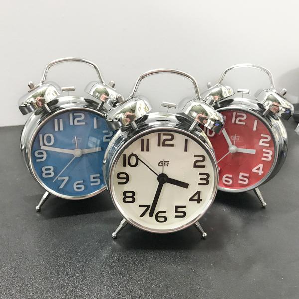 Nơi bán Đồng hồ báo thức để bàn chuông to, phù hợp trang trí, chất liệu inox chuông to và sang trọng