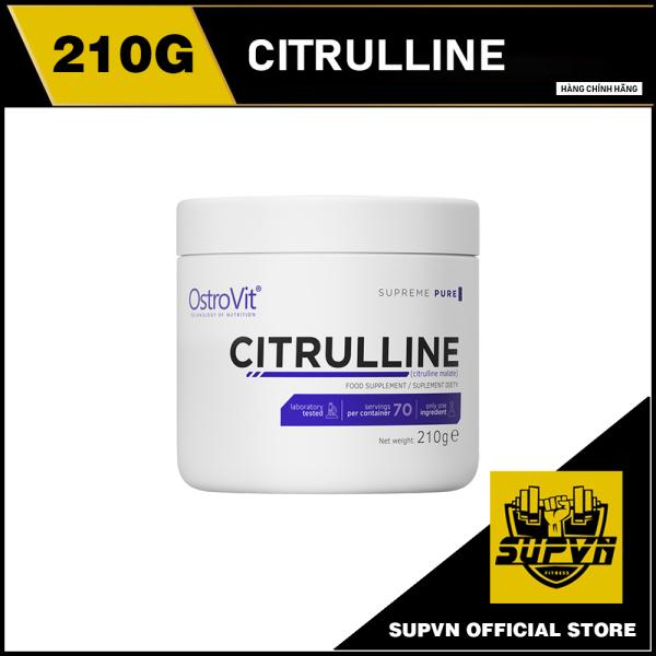 Citrulline Malate Ostrovit 210g - Tăng cường sức bền và sức mạnh trong tập luyện