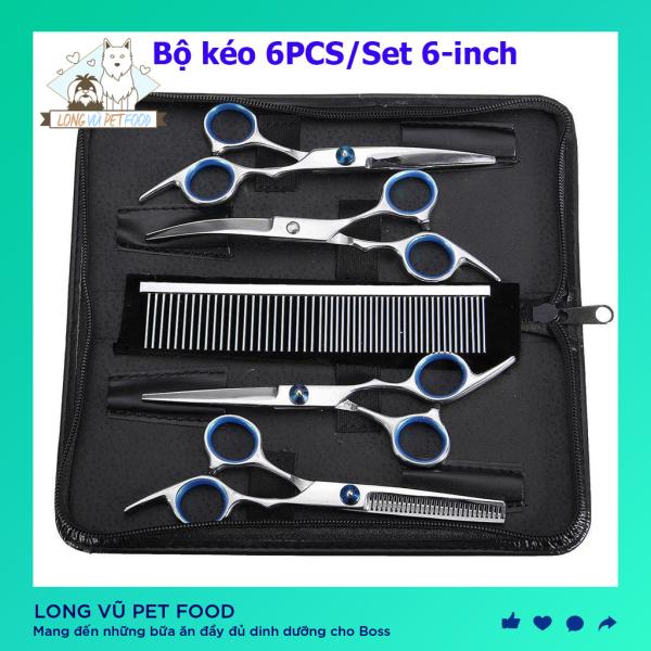 Bộ kéo cắt tỉa lông cho chó mèo - Kéo tỉa lông chó mèo - Long Vũ Pet Food