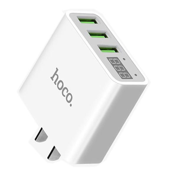 Củ Sạc Hoco C15 - 3 cổng USB - Có Đèn LED Hiển Thị
