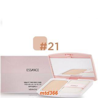 Phấn Nền Số 21 Tông Da Tự Nhiên Essance Siêu Mịn Lâu Trôi Veil Fit Two Way Cake Spf40 pa++ thumbnail